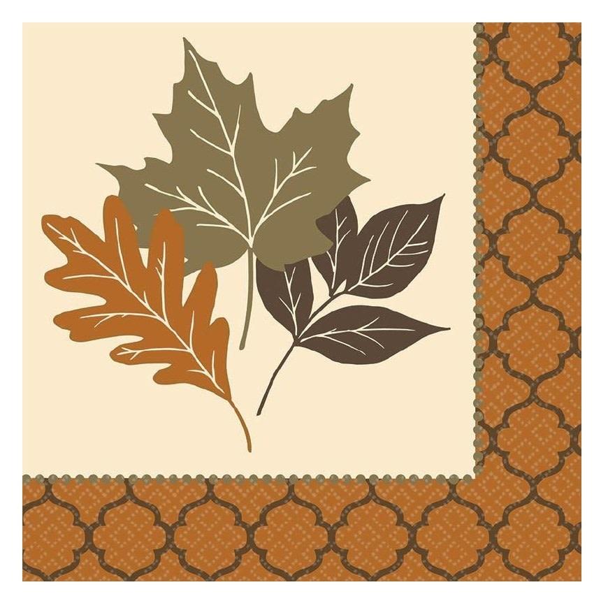 Copper Leaves Dinner Napkin