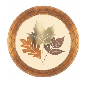 """Copper Leaves 10"""" Plate"""