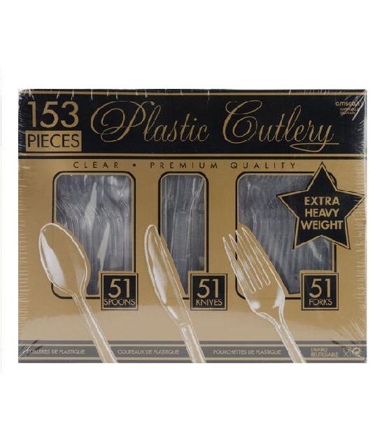 Clear Premium Heavy Weight Window Box Plastic Cutlery