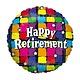 """18"""" Mylar 'Happy Retirement"""" Checkered - #202"""