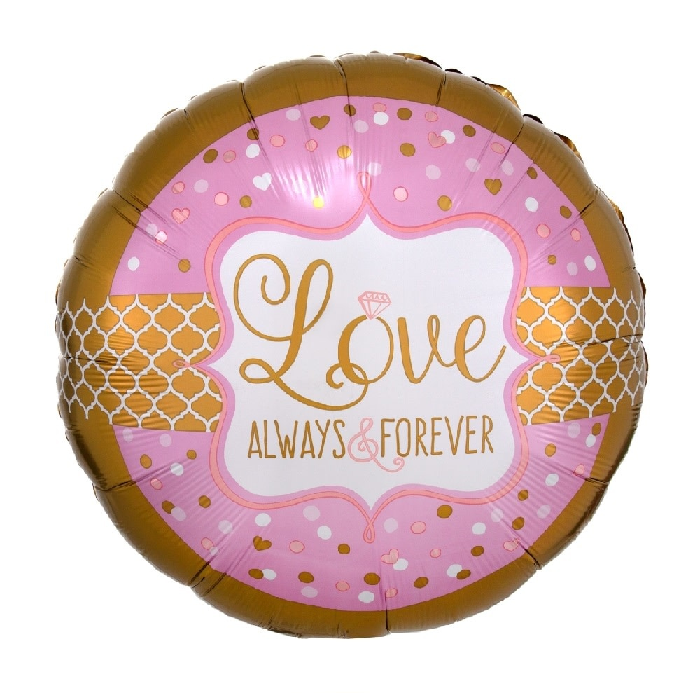 "18"" Mylar "" Love, Always & Forever"" Pink/Gold - #229"