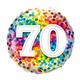 """18"""" Mylar """"70"""" Rainbow Dots - #93"""