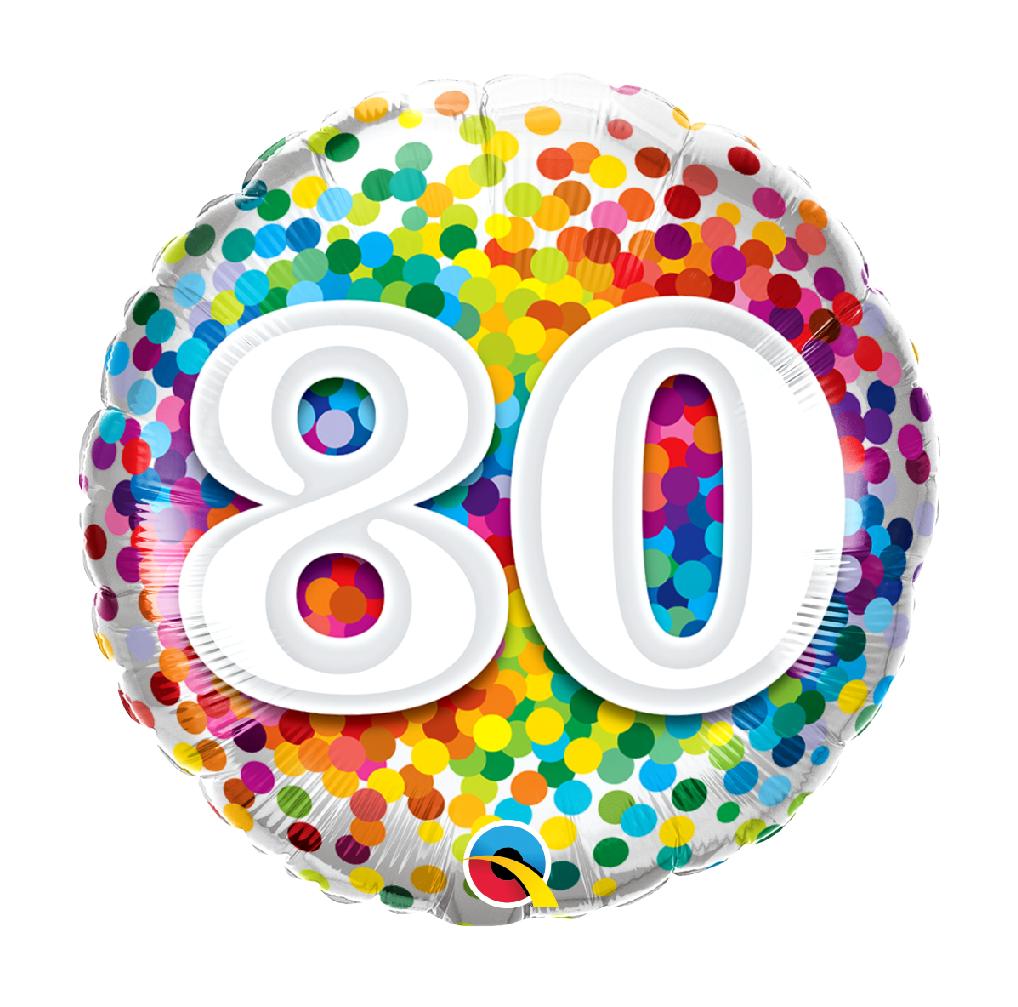 """18"""" Mylar """"80"""" Rainbow Dots - #96"""