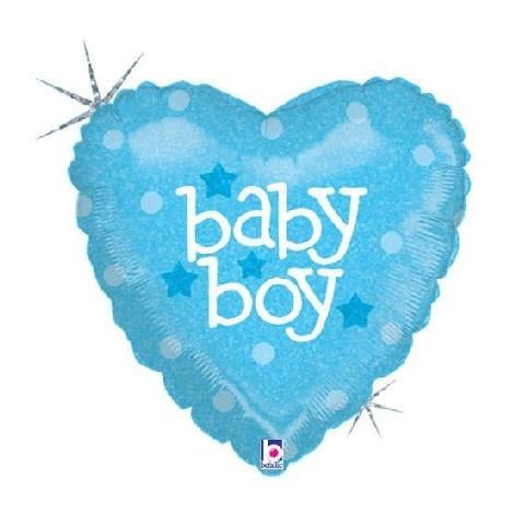 "18"" Mylar ""Baby Boy"" Blue Heart - #268"