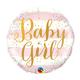 "18"" Mylar ""Baby Girl"" Pink/White Striped - #253"