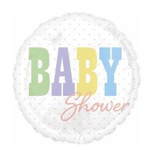 """18"""" Mylar """"Baby Shower"""" White - #245"""