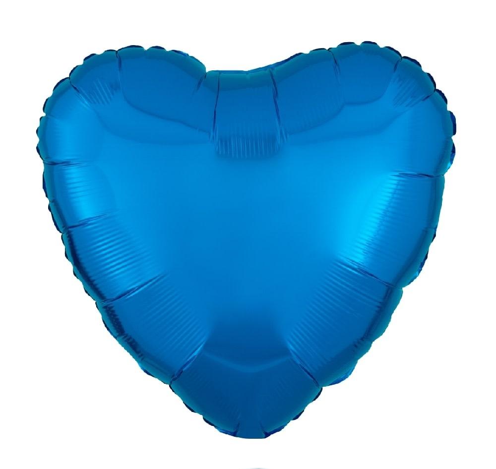 """18"""" Mylar """"Blue Heart""""  - #338"""