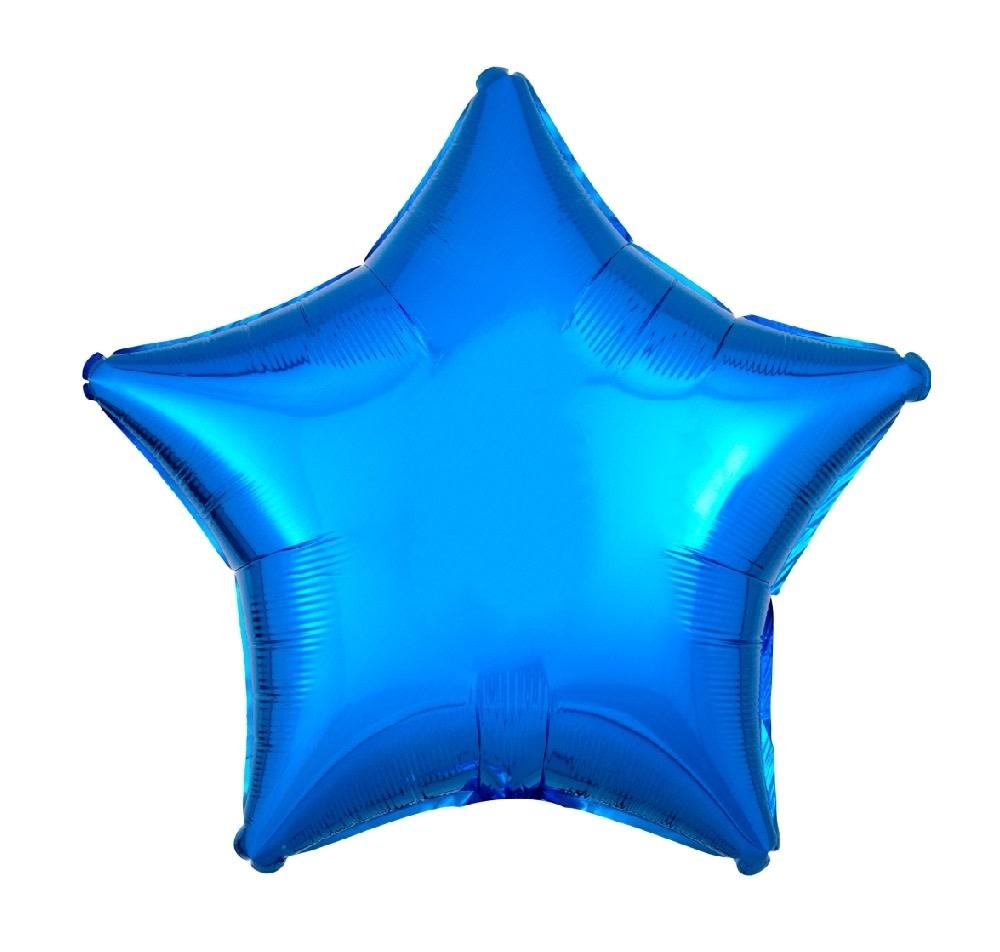 "18"" Mylar ""Blue Star""  - #292"