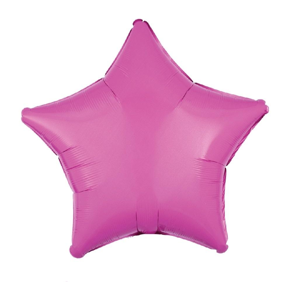 "18"" Mylar ""Bubblegum Pink Star"" - #310"