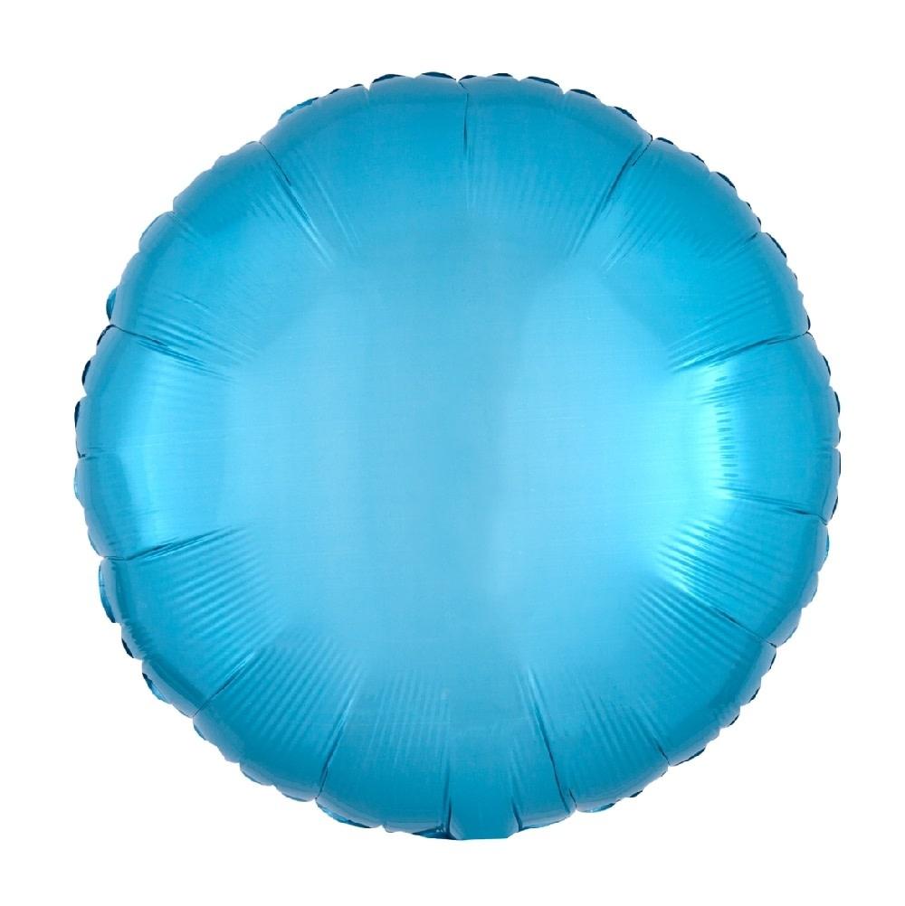 "18"" Mylar ""Caribbean Blue Circle"" - #319"