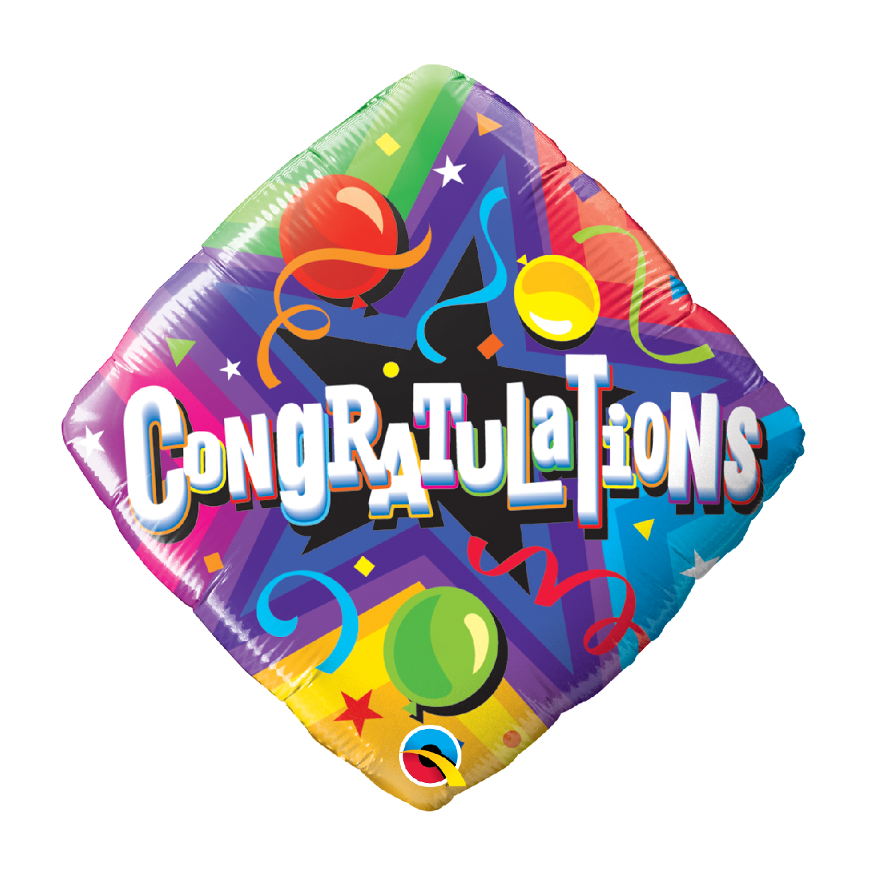 """18"""" Mylar """"Congratulations"""" Party Time - #183"""