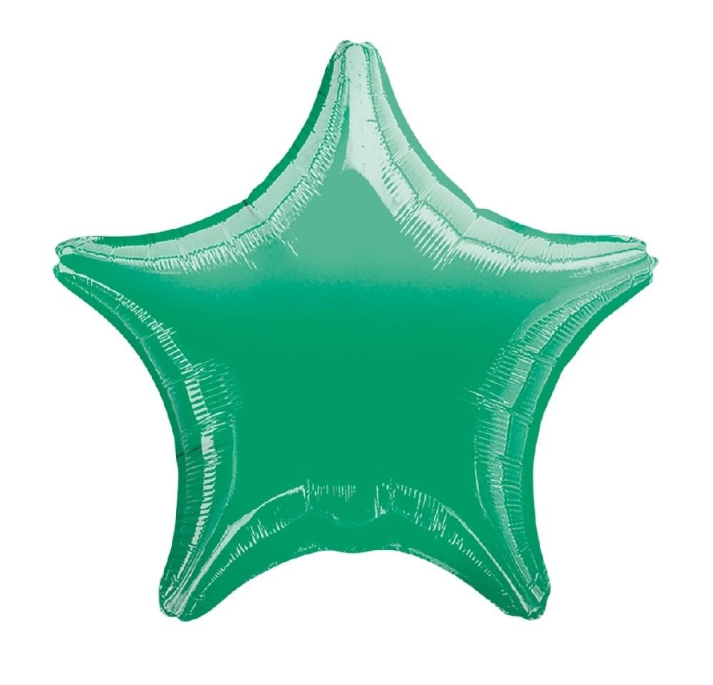"18"" Mylar ""Green Star"" - #293"