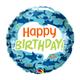"""18"""" Mylar """"Happy Birthday""""  Sharks - #44"""
