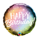 "18"" Mylar Metallic Ombre Happy Birthday - #5"