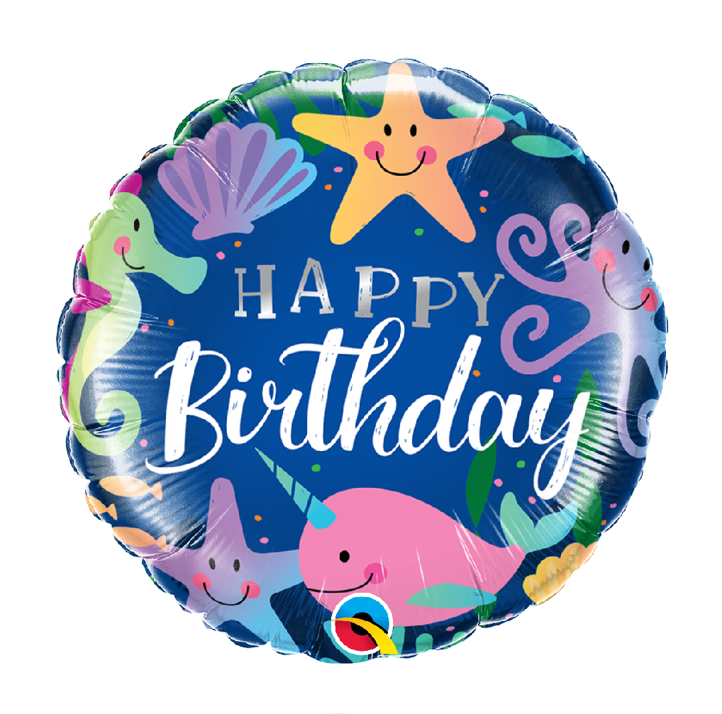 "18"" Mylar ""Happy Birthday"" Under the Sea - #42"