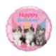 "18"" Mylar ""Happy Birthday"" Cute Kittens - #36"