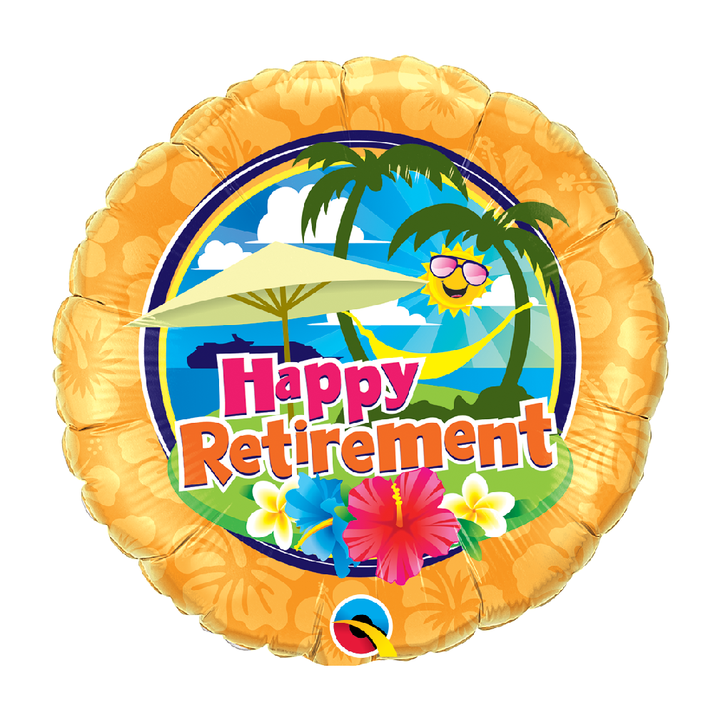 "18"" Mylar ""Happy Retirement"" Tropical - #200"