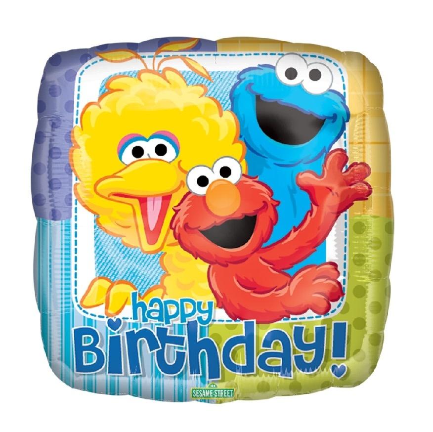 """18"""" Mylar """"Sesame Street Happy Birthday"""" - #124"""
