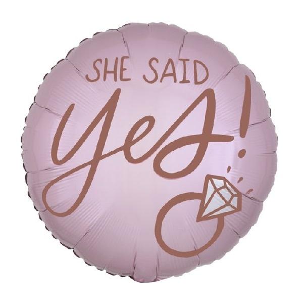 """18"""" Mylar """"She Said Yes!""""  - #221"""