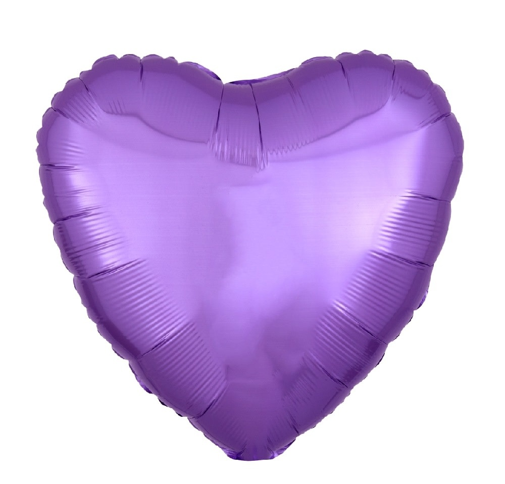 "18"" Mylar ""Spring Lilac Heart"" - #347"