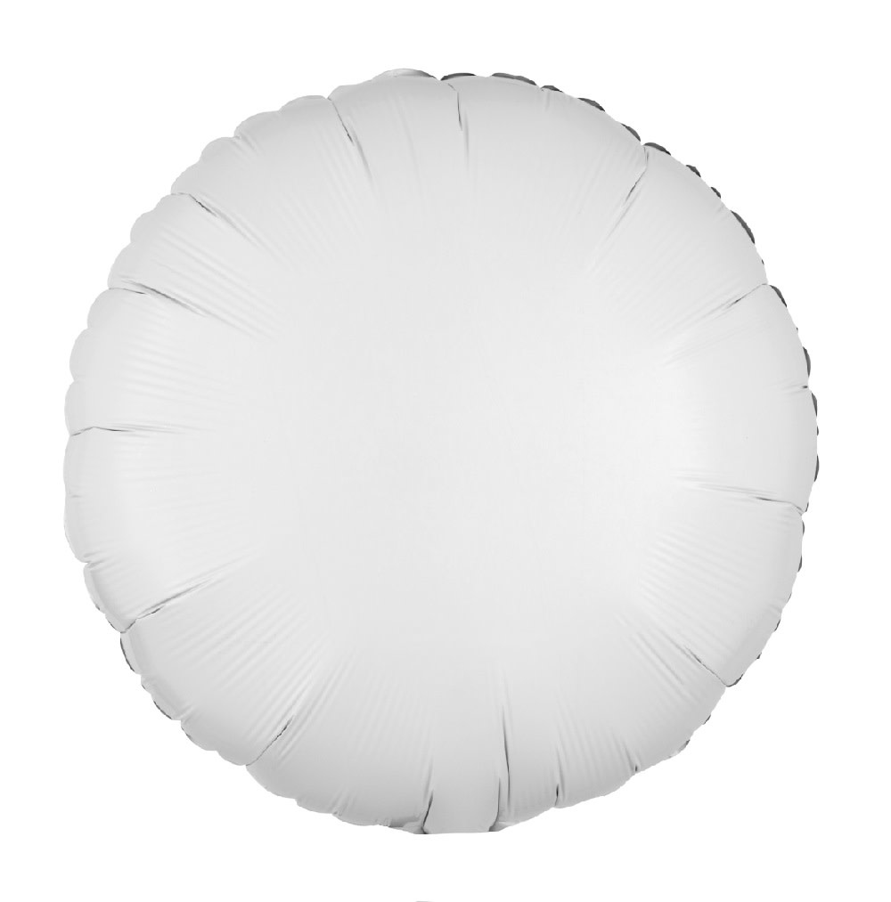 """18"""" Mylar """"White Circle"""" - #331"""