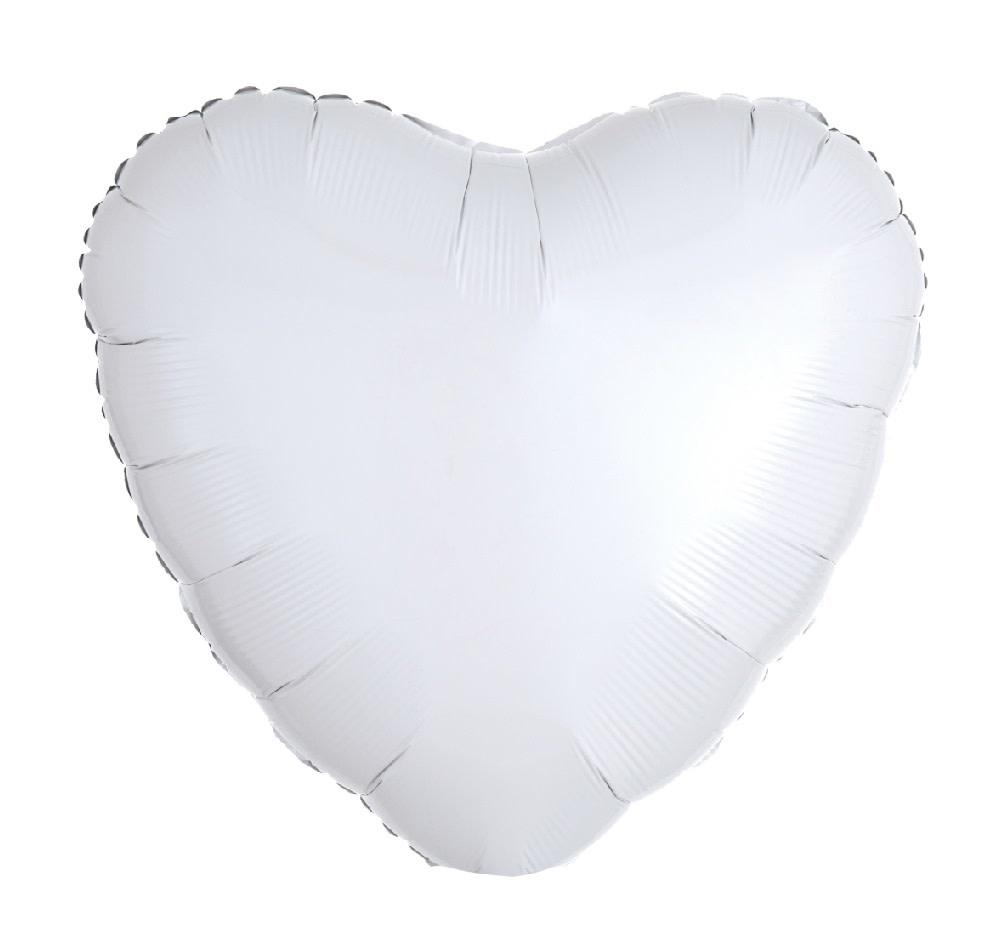 "18"" Mylar ""White Heart"" - #344"