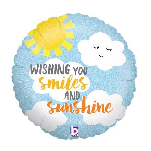 "18"" Mylar ""Wishing You Smiles and Sunshine"" - #153"