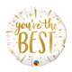 """18"""" Mylar You're the Best Gold - #164"""