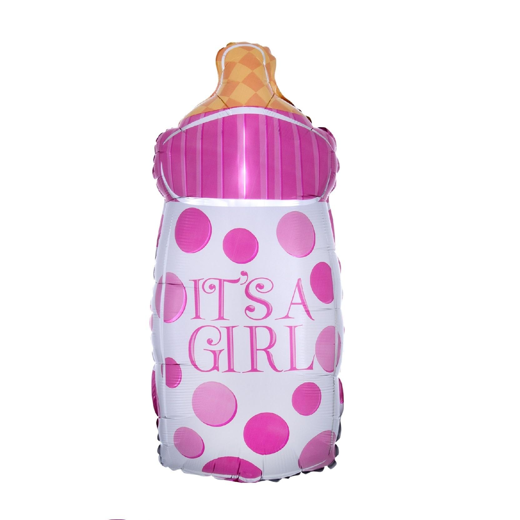"18"" Mylar Baby Girl Bottle Shape - #271"