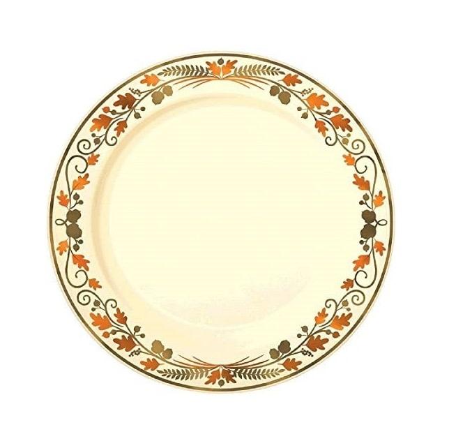 Autumn Wreath Luncheon Plates