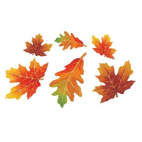 Autumn Leaves Cutouts - 12 Pcs
