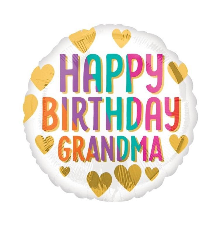 """18"""" Mylar """"Grandma Happy Birthday"""" - #151"""