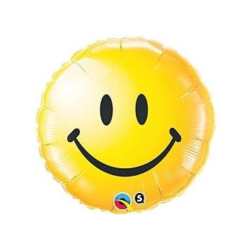 "18"" Smiley Face Yellow Mylar Balloon - #363"