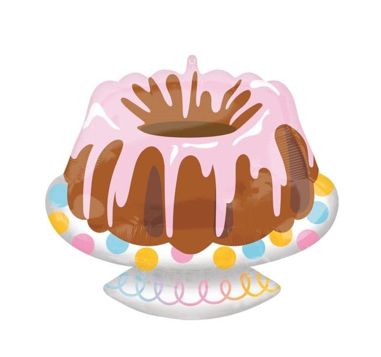 "Bundt Cake Mylar Shaped Balloon - 18"""