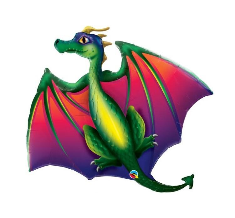 "Mythical Dragon Shape Mylar Balloon - 45"""