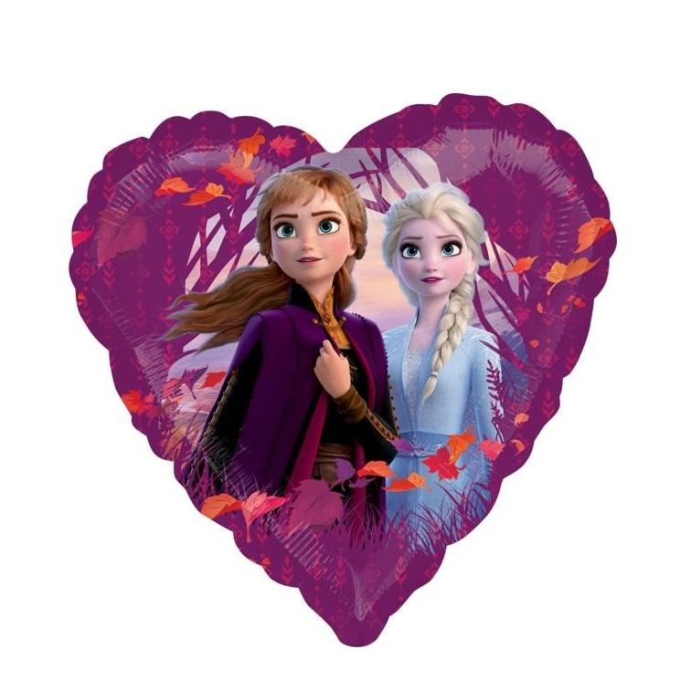 "18"" Mylar ""Elsa & Ana"" Purple Heart - #118"