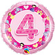 "18"" Pink Princess Age 4 Mylar Balloon"