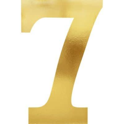 Metallic Gold Number 7 Cutouts 6ct