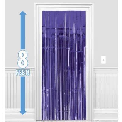 Purple Metallic Curtain