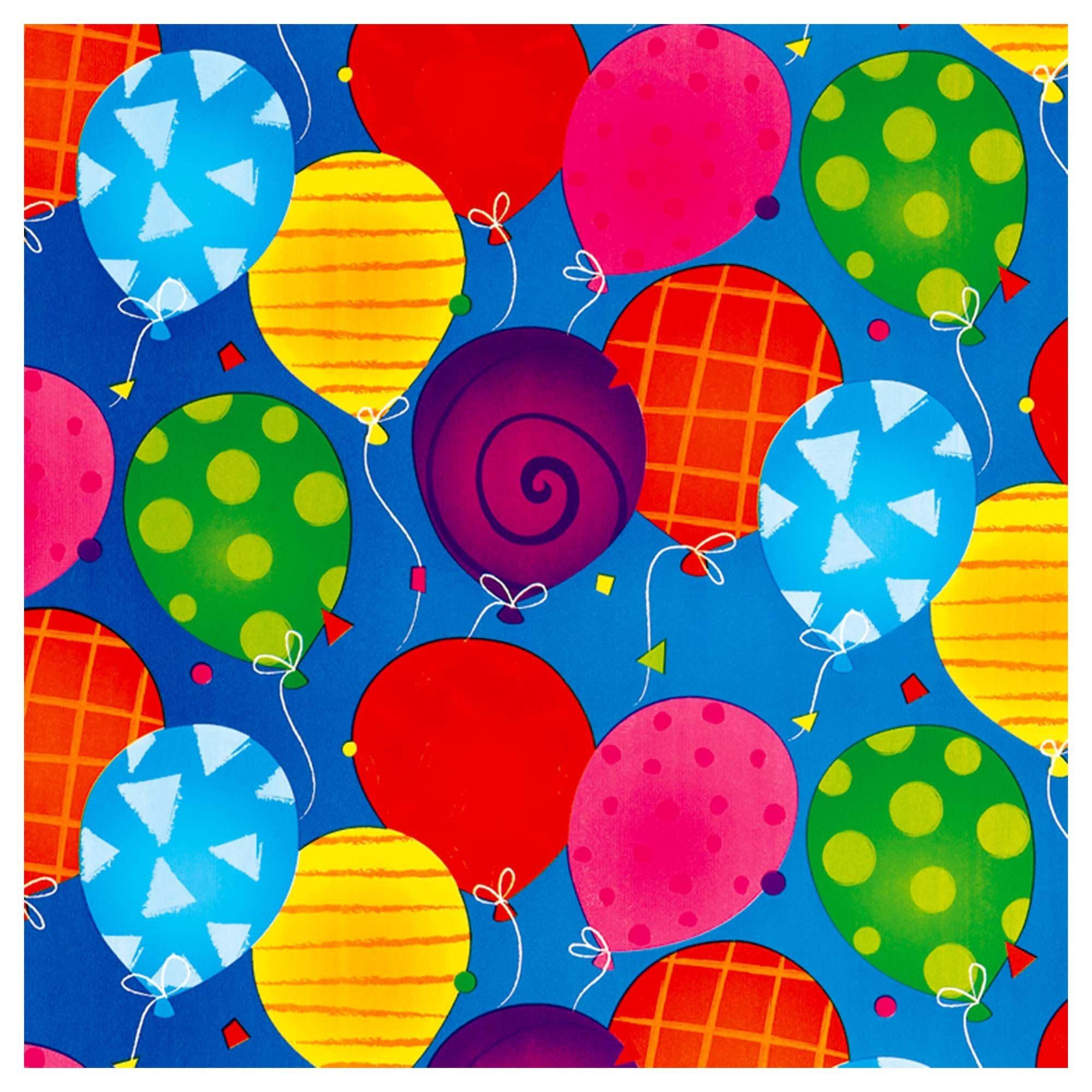 Bright Balloons Jumbo Embossed