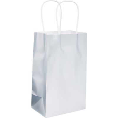 Silver Foil Solid Kraft Bag - Small