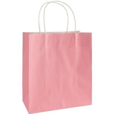New Pink Solid Kraft Bag - Medium