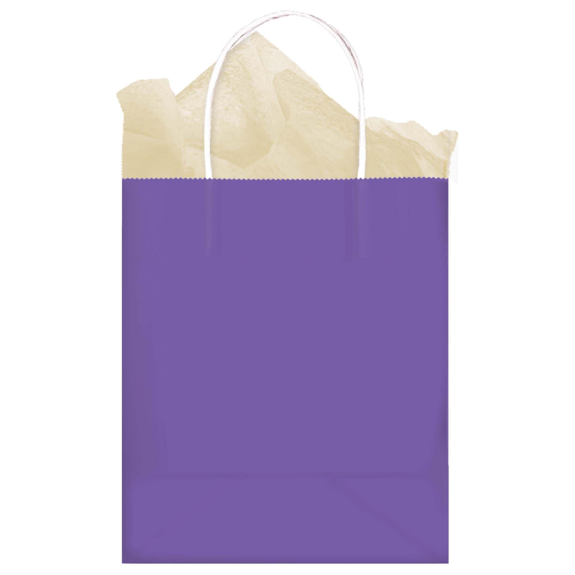 New Purple Solid Kraft Bag - Medium