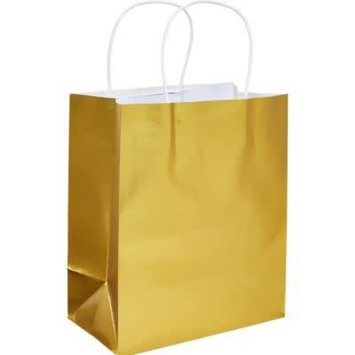 Gold Foil Solid Kraft Bag - Medium