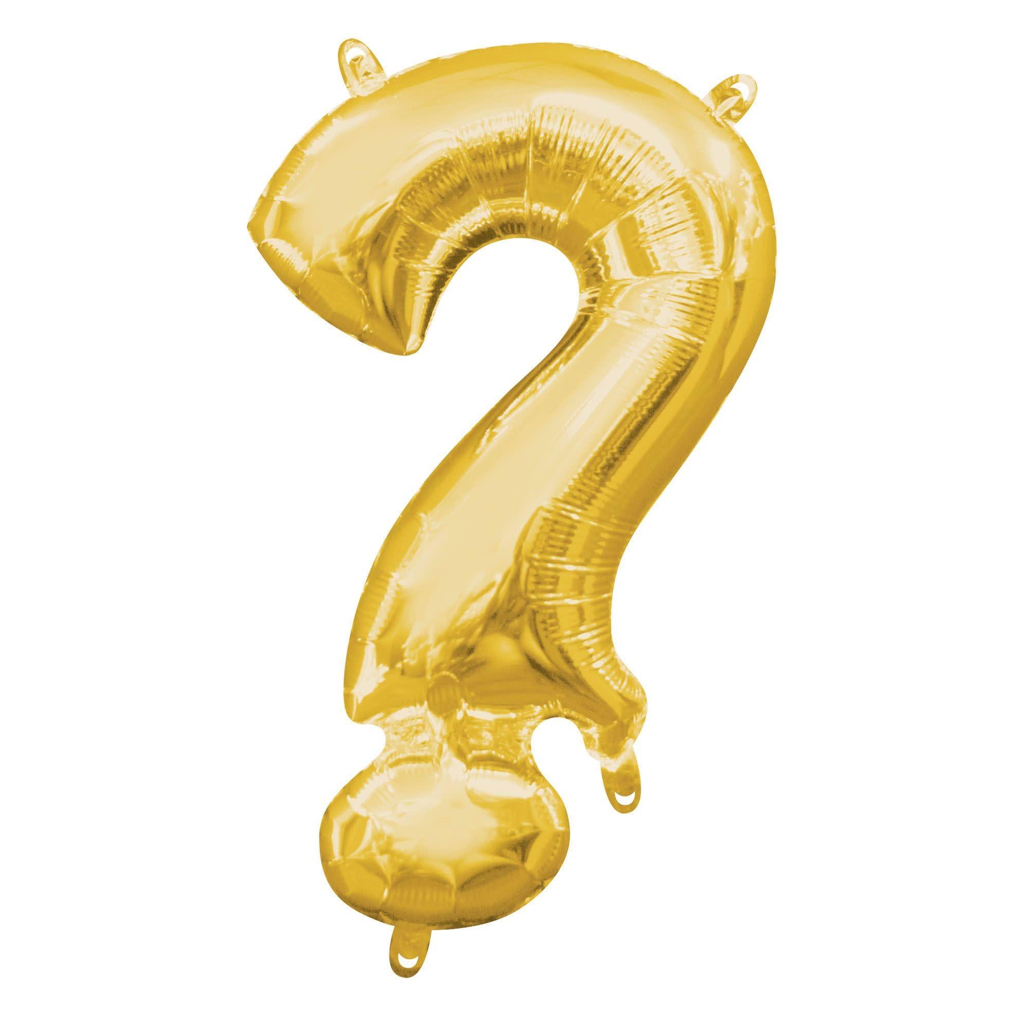 "Gold Symbol ""?"" Mylar Air-Filled Balloon - 16"""