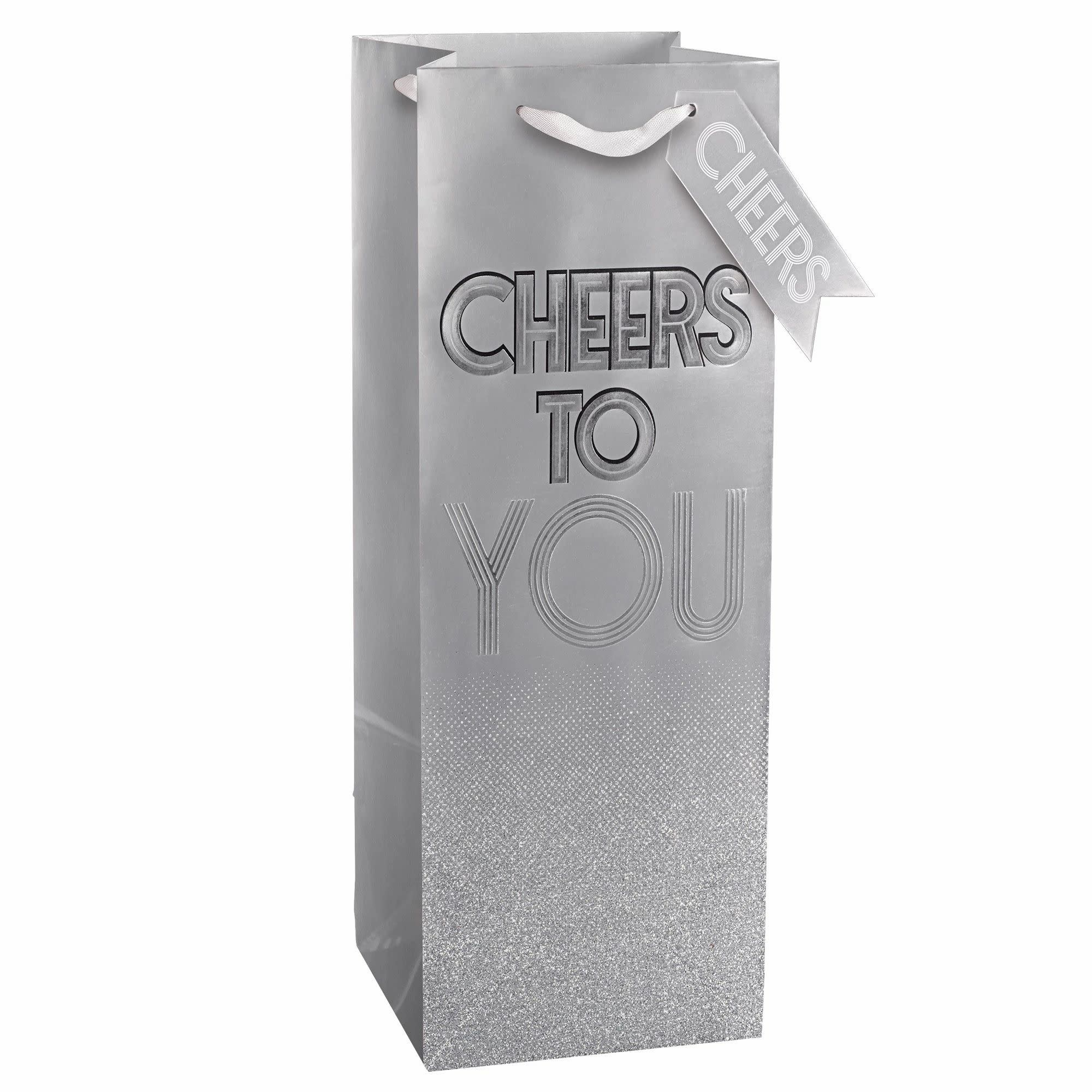Cheers To You Bottle Bag W/ Gift Tag
