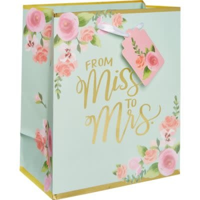 Mint to Be Floral Gift Bag