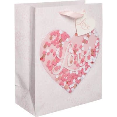 Confetti Shake Heart Gift Bag