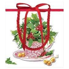 Christmas Tea Caspari Gift Bag Small