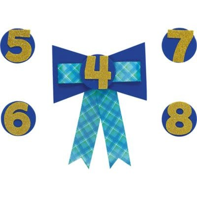 Personalized Blue Birthday Award Ribbon 4-9